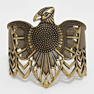 Eagle Aztec Cuff Bracelet